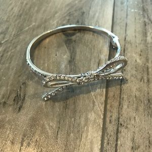 Kate Spade Silver Bow Bracelet with Stones